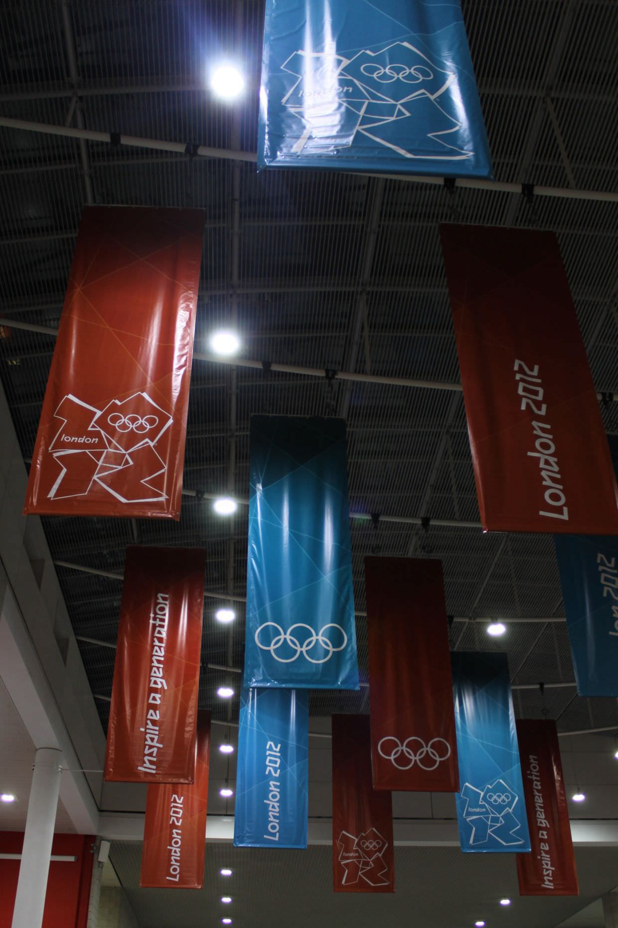 Olympic banners at the Excel Arena