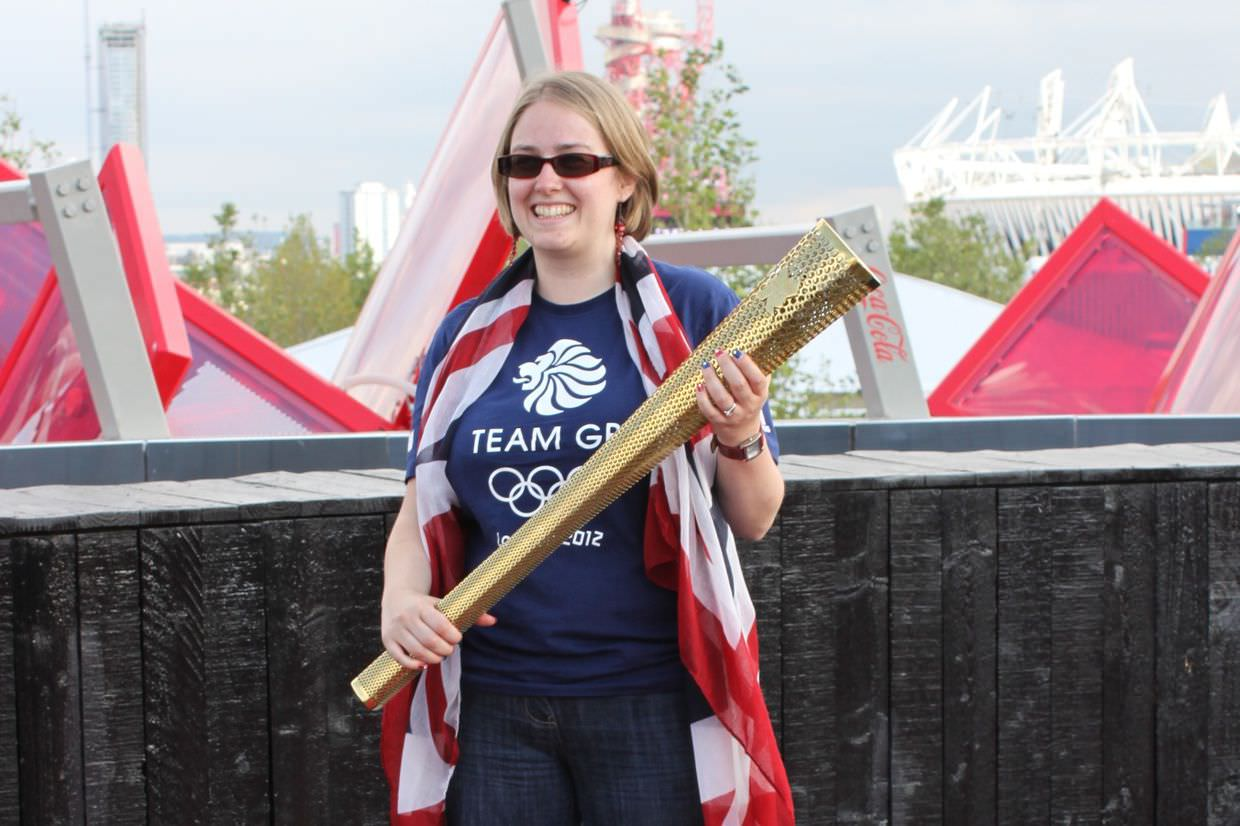 Samantha and the olympic torch