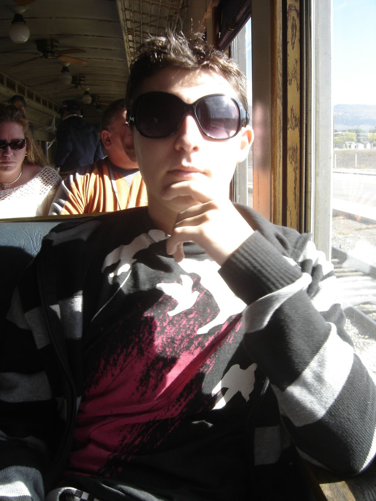Paul on Heber valley train