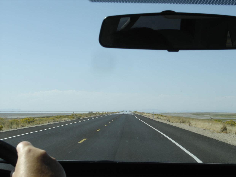 Driving to Antelope Island