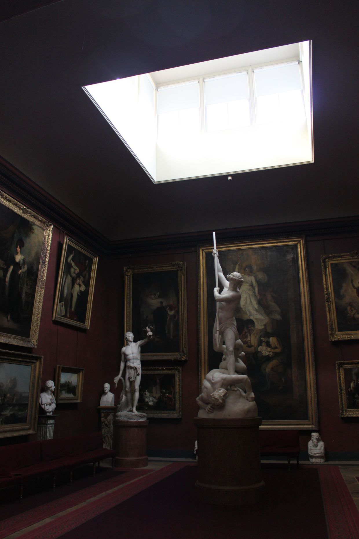 Gallery and sculptures in Petworth house