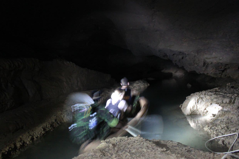 Underground kayaking in Paradise Cave