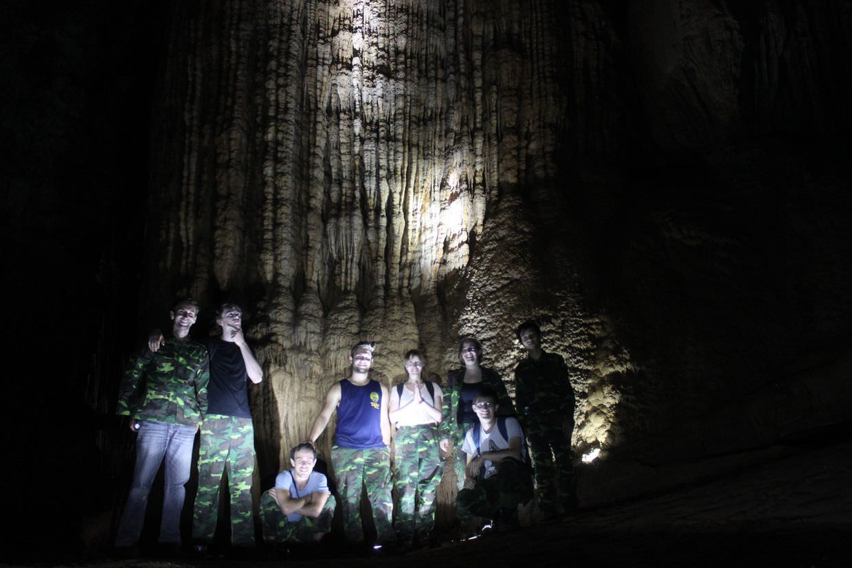 Paradise Cave expedition group, hike complete