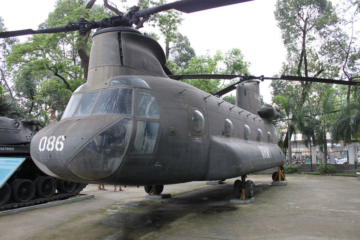 A chinook at the War Remnants museum