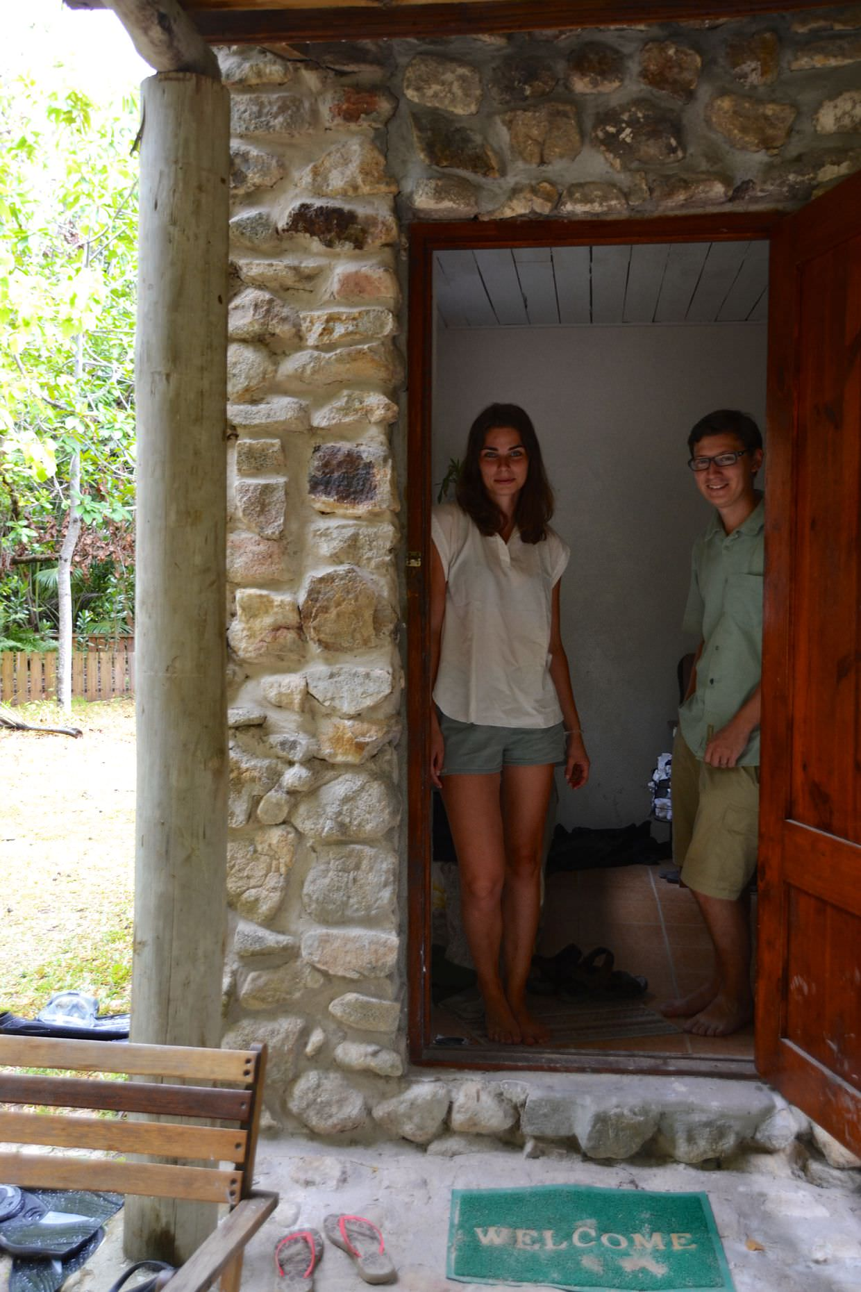 Lea and me at the entrance to the volunteer house