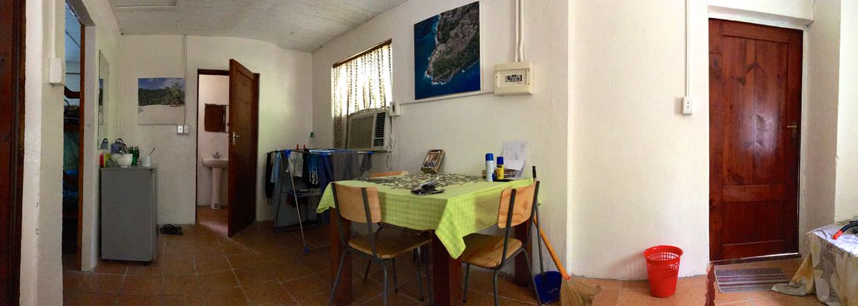 Panorama of the volunteer house