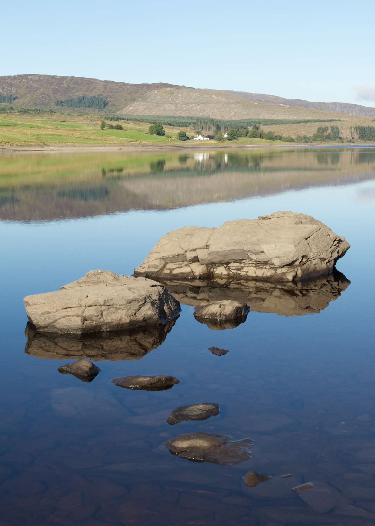 Reflections on Clatteringshaws Reservoir