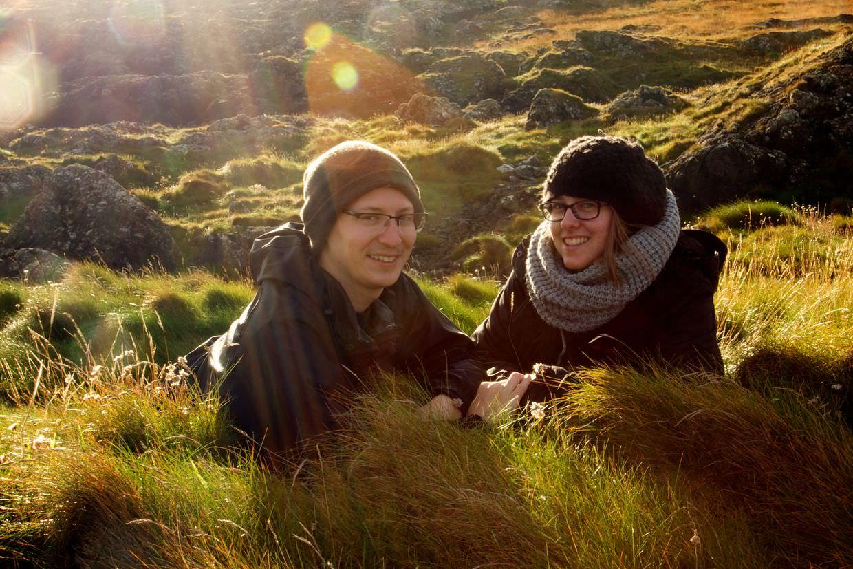 Samantha and Paul enjoying sunrise