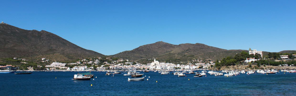 Panorama of Cadaqués and mountains