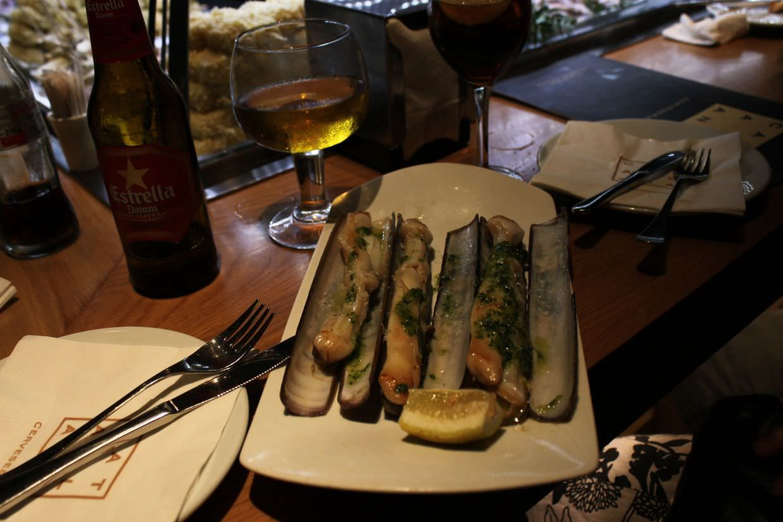 Razor clams at Cerveceria Catalana
