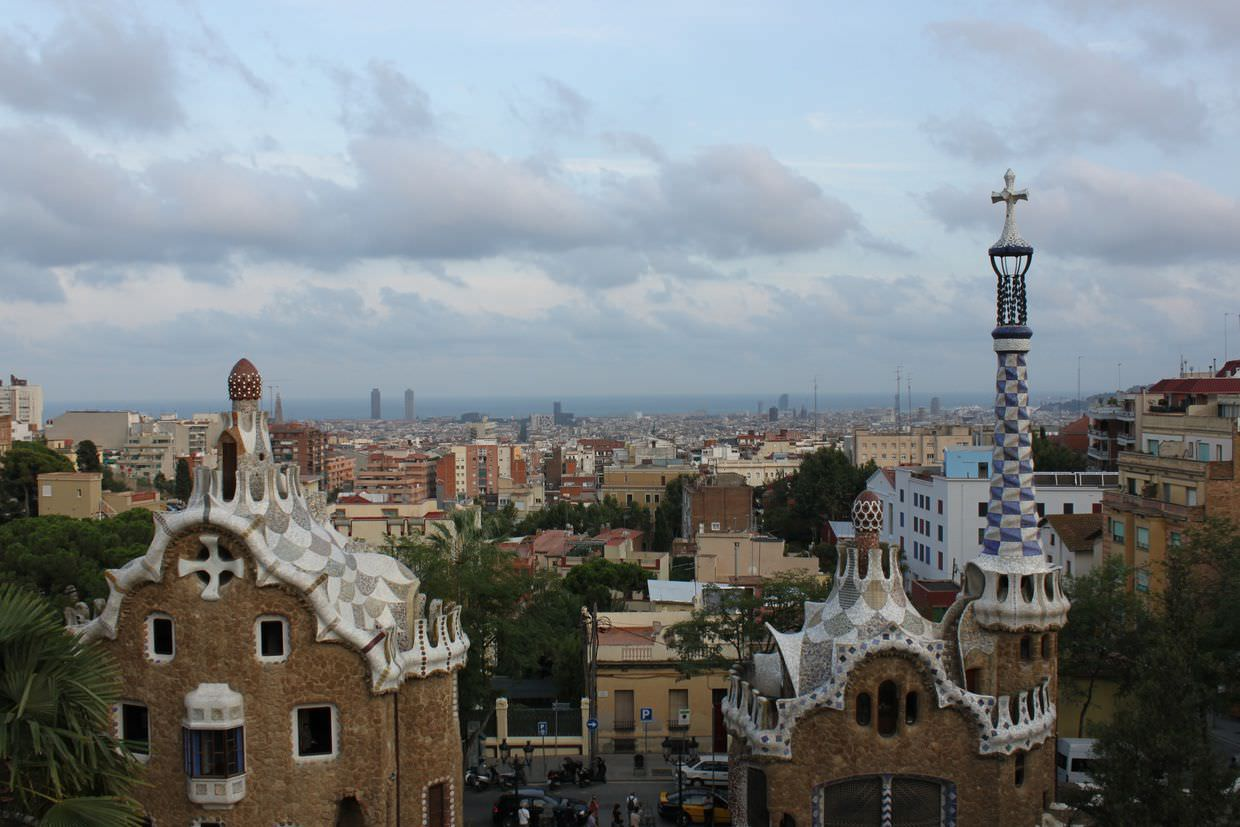 Classic view from Park Güell
