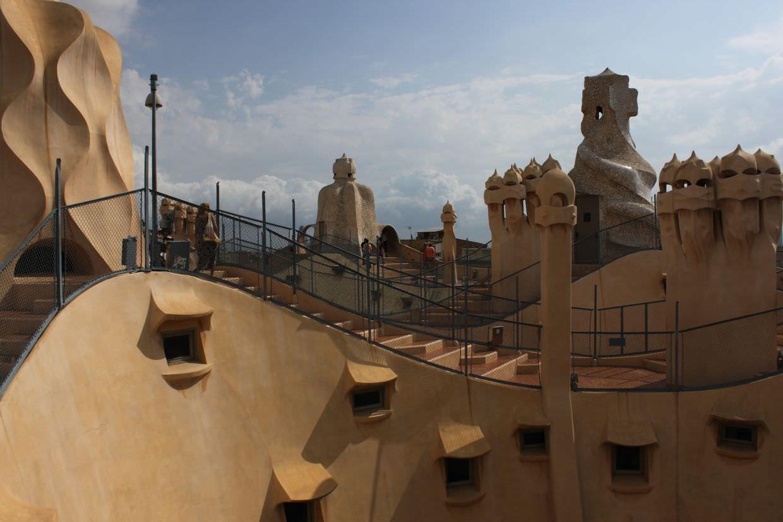 Undulating rooftop of La Pedrera
