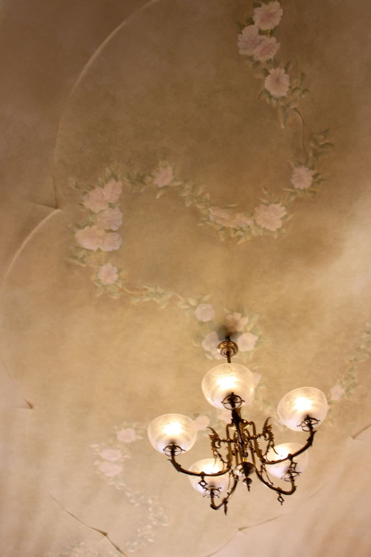 Ceiling detail in classic 1920s apartment