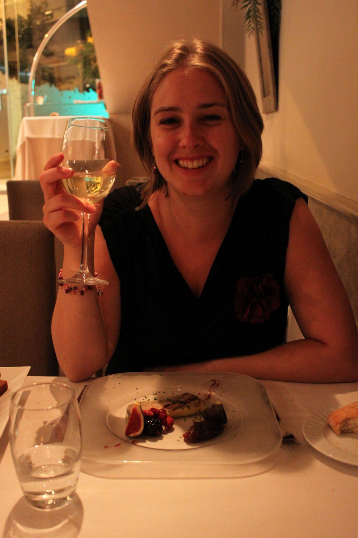 Samantha with her foie gras terrine