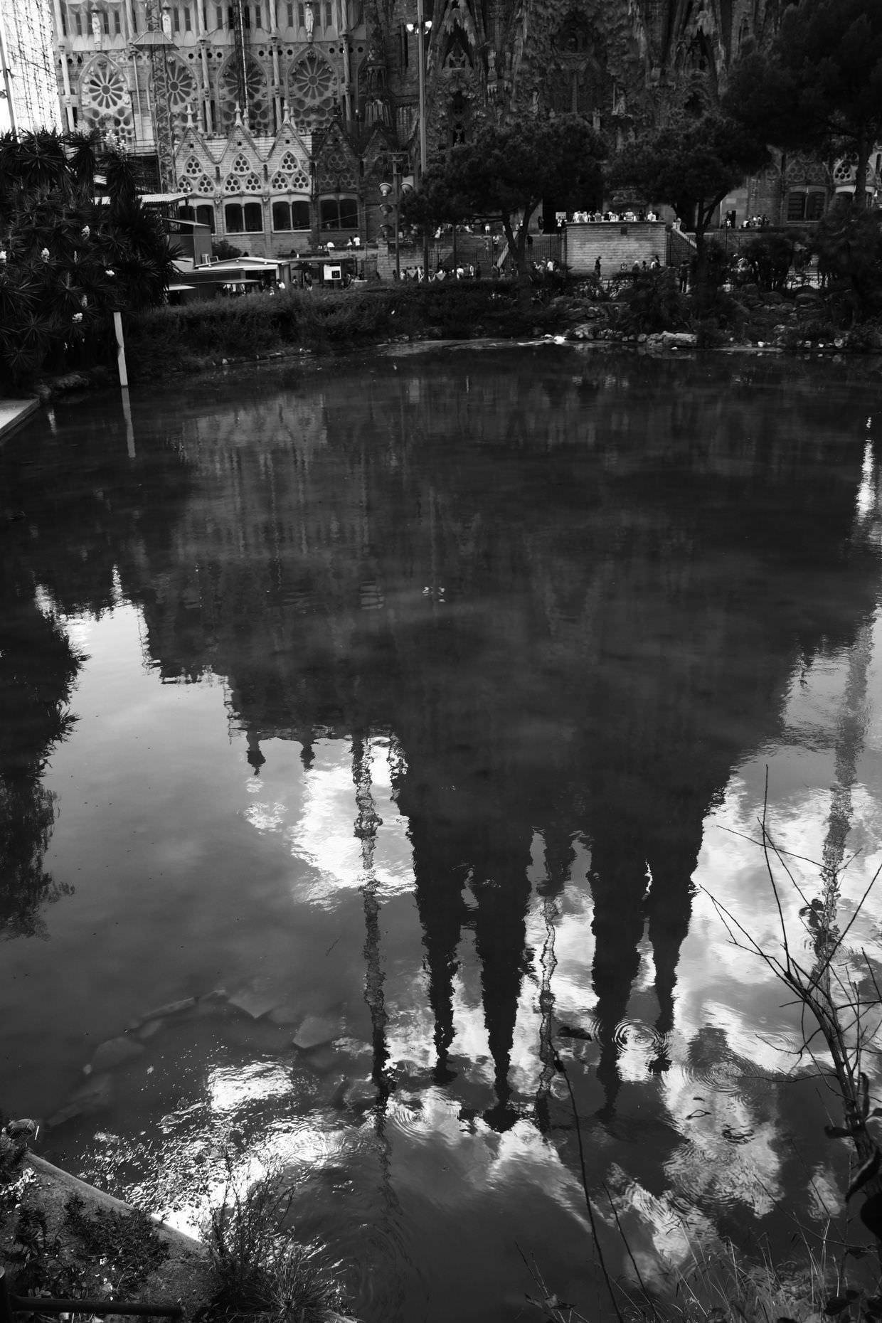 Reflections of La Sagrada Família