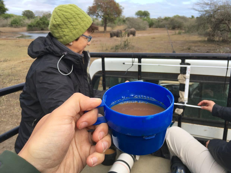 Coffee by the waterhole