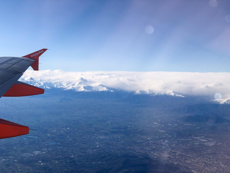 Flying to Milan