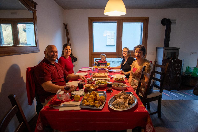 Christmas dinner in Italy