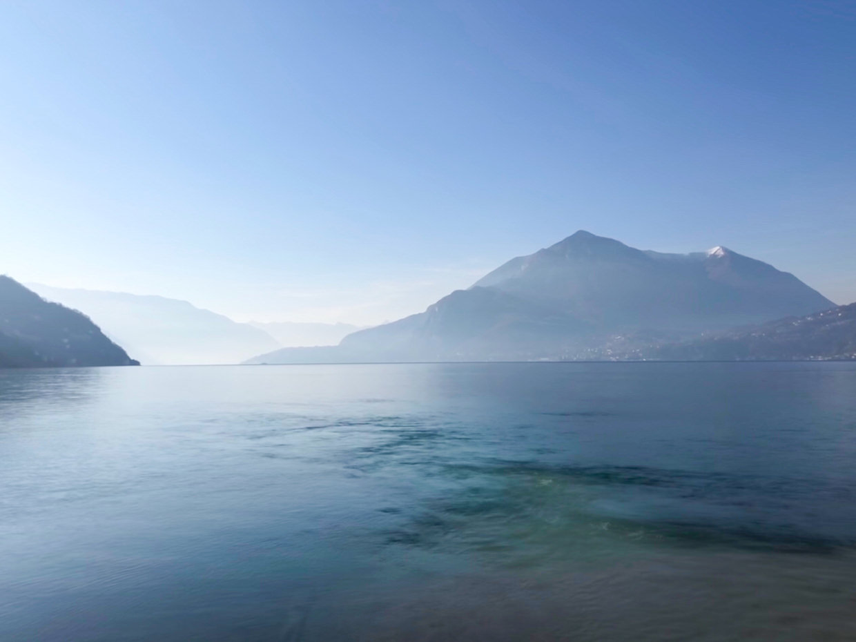 View of Lake Como from Bellano