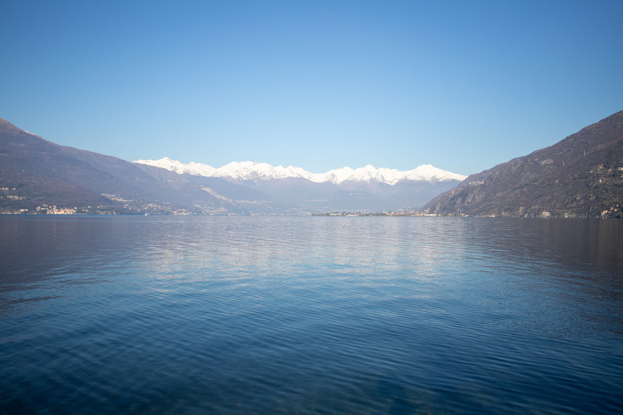 View north of Lake Como from Bellano