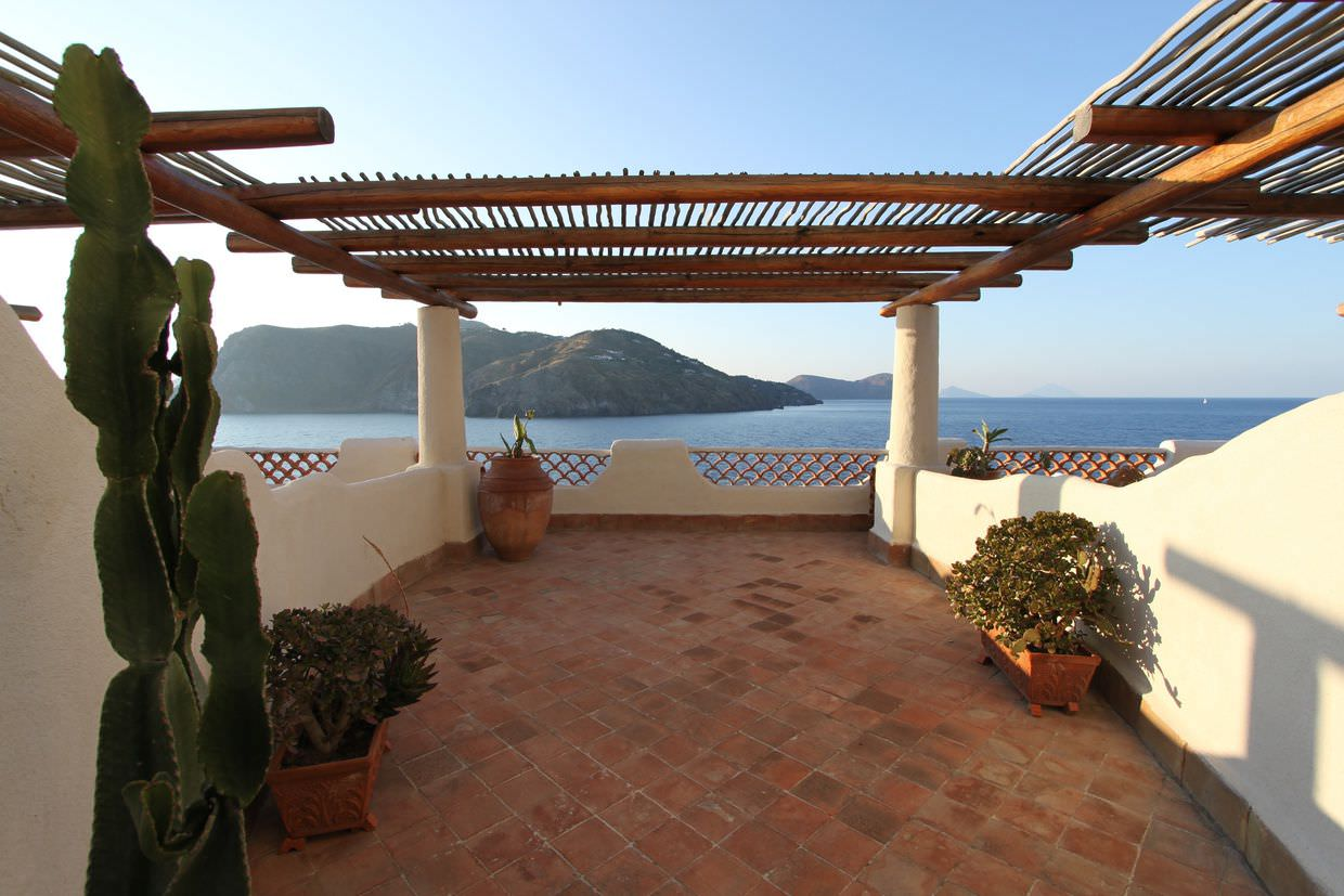 Balcony looking out at Lipari