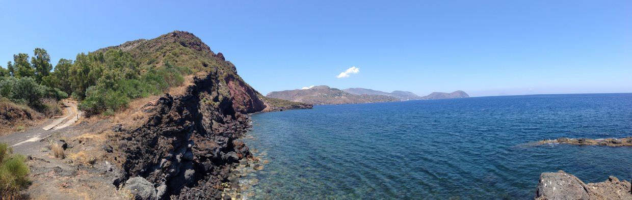 Panoramic from Vulcano Blu
