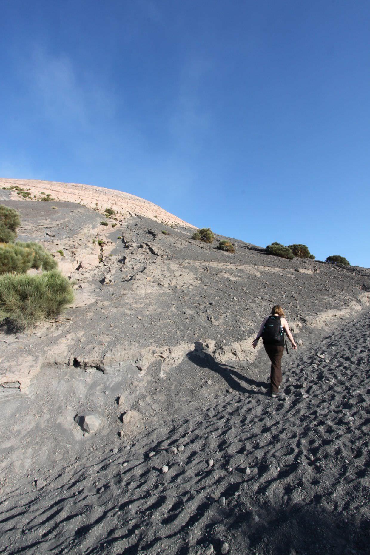 Beginning the trek up Vulcano, to the Gran Cratere