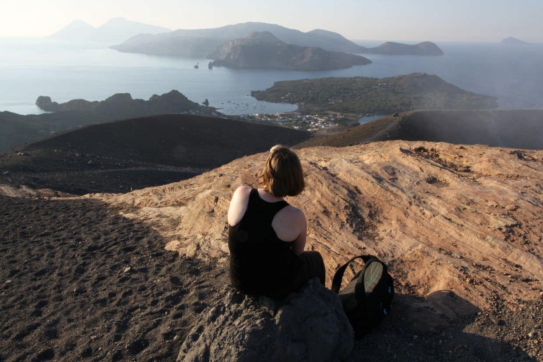 Taking a break on the summit