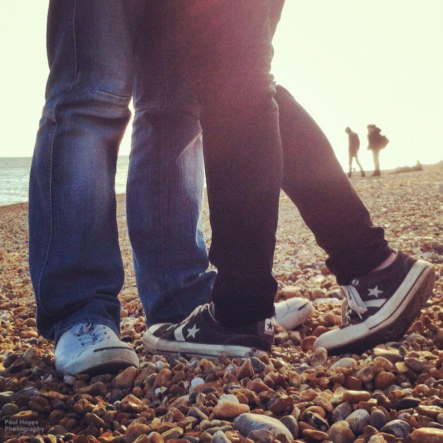 Converses on the beach