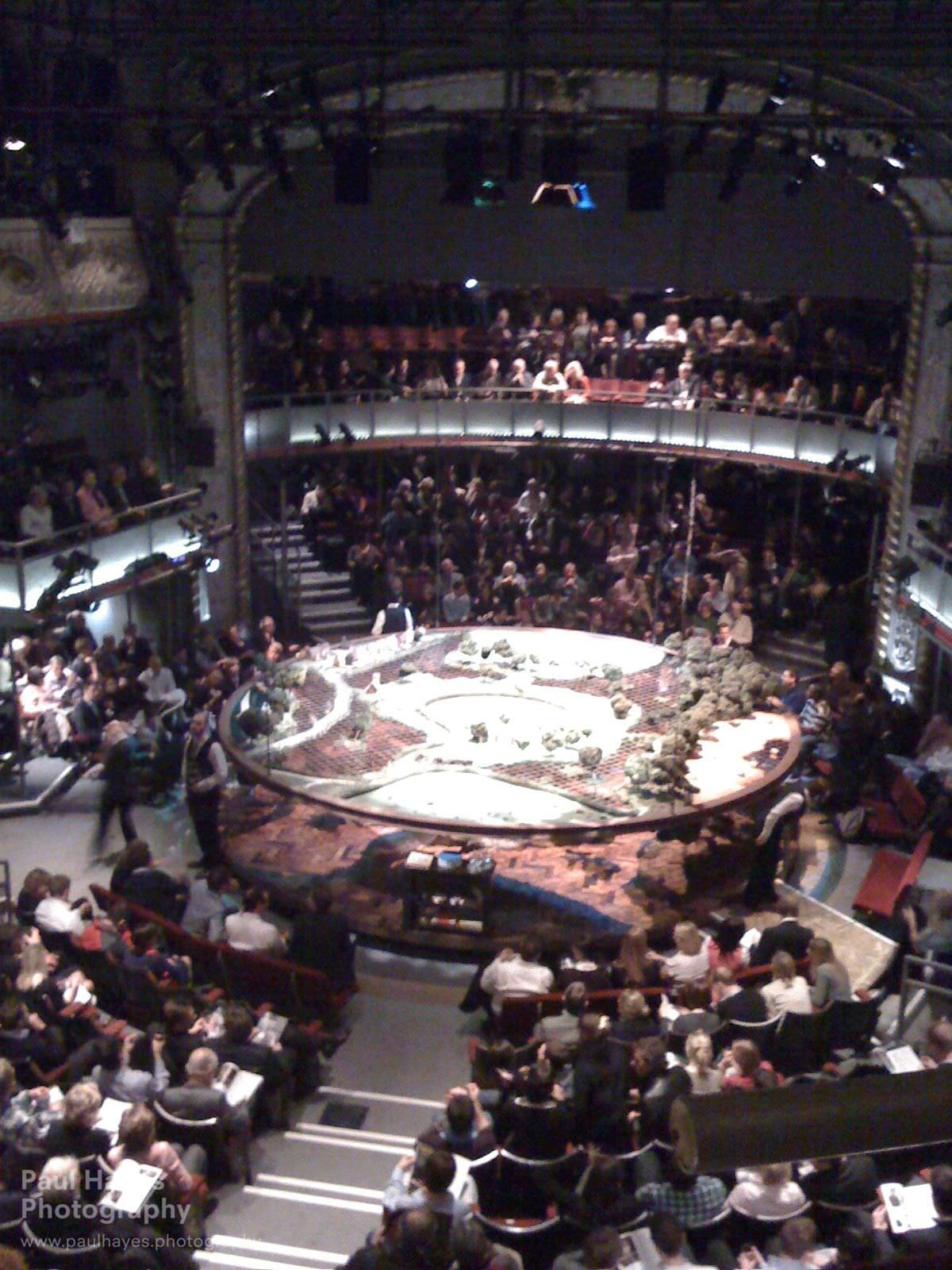 The circular stage at the Old Vic