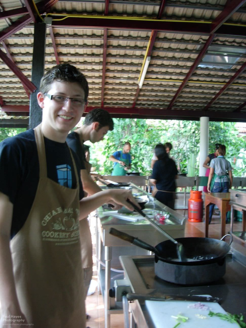 Paul cooking chestnuts in coconut milk