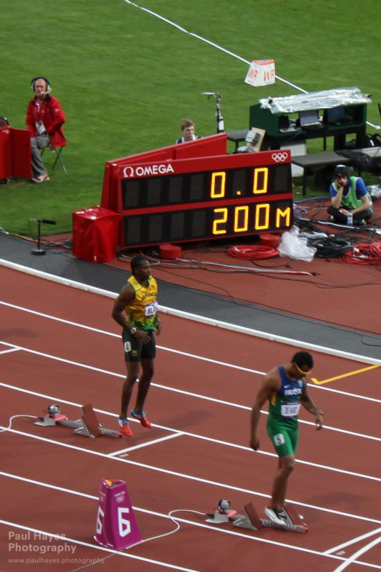 Yohan Blake preparing for 200m semi final