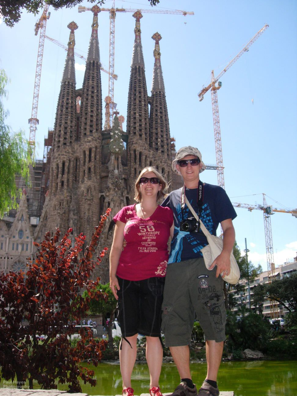 Sam and Paul outside the La Sagrada Família construction site